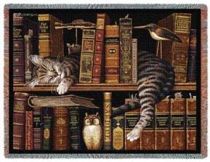 cotton-tapestry-throw-cat-sleeping-bookshelf